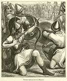 Pandarus aiming an Arrow at Menelaus
