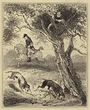 Dick Turpin hunted by Blood-hounds
