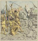 Delivrance des legations, entree des Sikhs