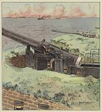 Defenses japonaises des passes de la mer Interieure