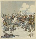Charge a la baionnette du 22e mobiles (Dordogne), au combat de Saint-Jean-sur-Erve