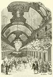 Entree de LL MM Royales et Imperiales dans la galerie des glaces du palais de Versailles, le 25 aout 1855