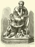 Ugolin et ses enfants, groupe en bronze de M J-B Carpeaux