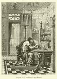 La bibliotheque d'un Romain