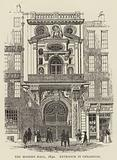 The Modern Hall, 1842, Entrance in Cheapside
