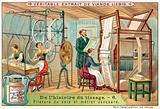 Spinning silk and a Jacquard loom