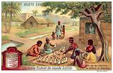 Children playing a game of Amazons in Dahomey