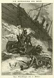 Wreck of the German steamer Elbe