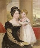 The Duchess of Kent and the Princess Victoria at the age of two