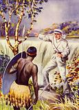 David Livingstone at the Victoria Falls