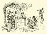 The Puritans barter with the Indians