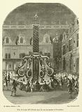 Fete de Louis XIV, Festin dans la cour de marbre a Versailles