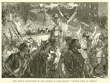 "The French Revolution of 1848, Crowds in Paris singing ""Mourir pour la Patrie"""