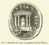 Astarte in a car, as represented at Sidon