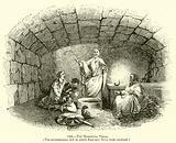 The Mamertine Prison, The subterranean cell in which Paul and Peter were confined