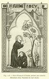 Saint Francois d'Assise parlant aux oiseaux