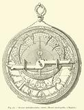 Ancien astrolabe arabe; revers, Musee d'antiquites, a Madrid
