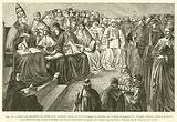 Dans une assemblee de prelats et de docteurs, tenue en 1256 a Anagni, et presidee par le Pape …
