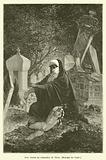 Une veuve au cimetiere de Pera, Maxime du Camp