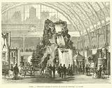 Paris, L'Exposition maritime et fluviale au palais de l'Industrie, la cascade