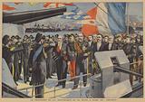 The President of France on board the Italian battleship Lepanto