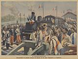 Opening of the first section of the railway line between Antananarivo and Toamasina, Madagascar