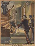 A naked lunatic running through the corridors of the Paris Palais de Justice