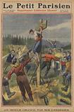A miner crucified by his comrades