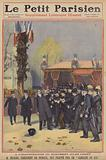 Attack on the French Prime Minister Aristide Briand at the unveiling of a monument to Jules Ferry