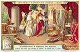 Croesus showing his treasures to Solon, 6th Century BC