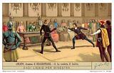 Hamlet fights Laertes