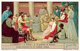 Aeneas at Dido's palace