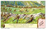 Italian alpine troops attacking enemy trenches