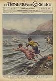 Alle grida di due giovanotti, colti da malore durante un bagno nelle acque del lago di Molveno …