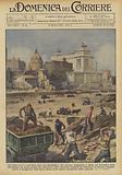 Gli ultimi lavori a una delle opere piu significative che saranno inaugurate a Roma nel Decennale della Rivoluzione