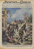 Nelle terre abbandonate dai rossi, fra Teruel e il mare, le truppe nazionali spagnole, avanzando …