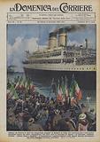 Salpano da Genova le navi che trasportano migliaia di famiglie in Libia, dove moderne case e vasti …