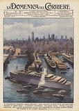 Il transatlantico britannico Queen Elizabeth ripara nel porto di Nuova York, dove pure sono …