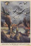 Il centro di Londra sotto il bombardamento germanico