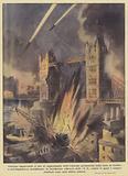 Continua implacabile il tiro di rappresaglia delle telearmi germaniche sulla zona di Londra …