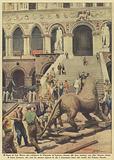 Il leone di San Marco che adornava la Piazzetta di Venezia, ritorna alla luce insieme con altre famose statue