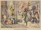 The sack of Meknes, Morocco