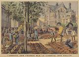 The arrival of the strawberry harvest at Les Halles food market, Paris