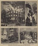 Terrible fire on the Boulevard de Sebastopol, Paris