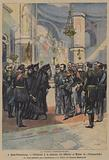 The Russo-Japanese War: ceremony in remembrance of the officers and men killed in the sinking of the Russian battleship Petropavlovsk