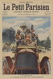 American Indians driving a car