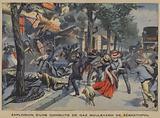 Explosion of a gas main in the Boulevard de Sebastopol, Paris