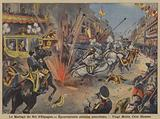 Anarchist bomb attack on the wedding procession of King Alfonso XIII and Queen Victoria Eugenie of Battenberg in Madrid