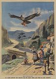A young child carried off by an eagle in Italy