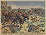 US Cavalry pursuing 500 Indians who had begun an uprising